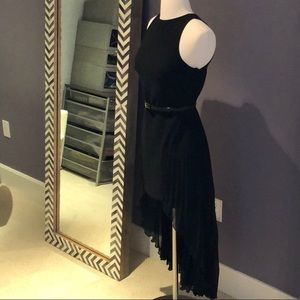 Halston Heritage Black Hi Lo Dress